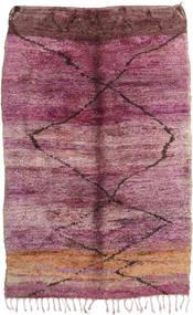 Berber Moroccan - Mid Atlas Matto 195X300 Moderni Käsinsolmittu Violetti/Vaaleanpunainen (Villa, Marokko)