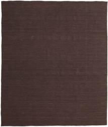 Kelim Loom - Tummanruskea Matto 250X300 Moderni Käsinkudottu Tummanruskea Isot (Villa, Intia)