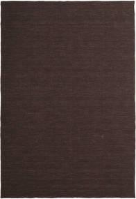 Kelim Loom - Tummanruskea Matto 200X300 Moderni Käsinkudottu Tummanruskea (Villa, Intia)