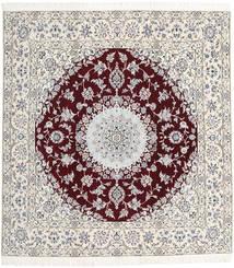 Nain 9La Matto 198X207 Itämainen Käsinsolmittu Neliö Vaaleanharmaa/Beige (Villa/Silkki, Persia/Iran)