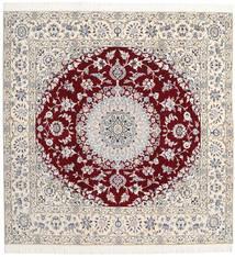 Nain 9La Matto 201X204 Itämainen Käsinsolmittu Neliö Vaaleanharmaa/Beige (Villa/Silkki, Persia/Iran)