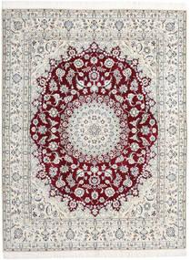 Nain 9La Matto 198X258 Itämainen Käsinsolmittu Vaaleanharmaa/Beige (Villa/Silkki, Persia/Iran)