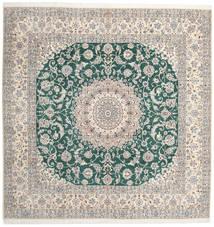 Nain 9La Matto 302X304 Itämainen Käsinsolmittu Neliö Vaaleanharmaa/Beige Isot (Villa/Silkki, Persia/Iran)