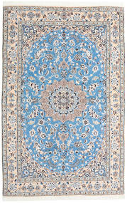 Nain 9La Matto 159X248 Itämainen Käsinsolmittu Vaaleanharmaa/Vaaleansininen (Villa/Silkki, Persia/Iran)