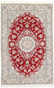 Nain 9La Matto 130X197 Itämainen Käsinsolmittu Vaaleanharmaa/Beige (Villa/Silkki, Persia/Iran)