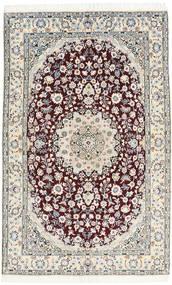 Nain 9La Matto 130X205 Itämainen Käsinsolmittu Vaaleanharmaa/Tummanruskea/Valkoinen/Creme (Villa/Silkki, Persia/Iran)