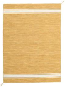 Ernst - Mustard/Valkea Matto 140X200 Moderni Käsinkudottu Vaaleanruskea/Tummanbeige (Villa, Intia)