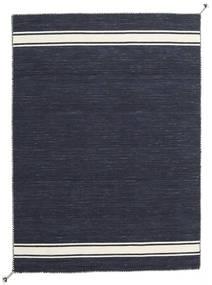 Ernst - Navy/Valkea Matto 140X200 Moderni Käsinkudottu Tummansininen/Tummanharmaa (Villa, Intia)