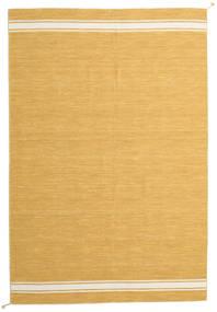Ernst - Mustard/Valkea Matto 200X300 Moderni Käsinkudottu Vaaleanruskea/Keltainen (Villa, Intia)