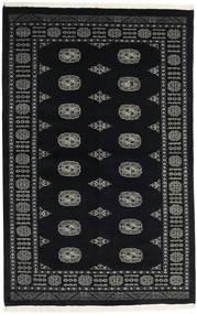 Pakistan Bokhara 3Ply Matto 135X210 Itämainen Käsinsolmittu Musta/Tummanharmaa (Villa, Pakistan)