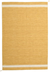 Ernst - Mustard/Valkea Matto 250X350 Moderni Käsinkudottu Vaaleanruskea/Tummanbeige Isot (Villa, Intia)