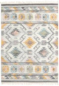 Mirza Matto 160X230 Moderni Käsinkudottu Vaaleanharmaa/Beige (Villa, Intia)