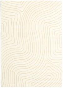 Woodyland - Beige Matto 160X230 Moderni Beige/Valkoinen/Creme (Villa, Intia)