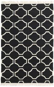 London - Musta/Valkea Matto 120X180 Moderni Käsinkudottu Musta/Beige (Villa, Intia)