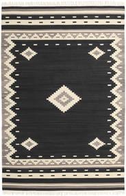 Tribal - Musta Matto 200X300 Moderni Käsinkudottu Musta/Beige (Villa, Intia)
