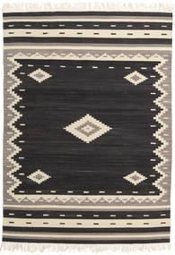 Tribal - Musta Matto 140X200 Moderni Käsinkudottu Musta/Beige (Villa, Intia)