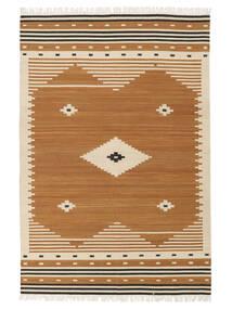Tribal - Mustard Matto 140X200 Moderni Käsinkudottu Ruskea/Vaaleanruskea (Villa, Intia)