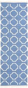 London - Sininen/Valkea Matto 80X250 Moderni Käsinkudottu Käytävämatto Sininen/Valkoinen/Creme (Villa, Intia)