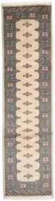 Pakistan Bokhara 2Ply Matto 80X309 Itämainen Käsinsolmittu Käytävämatto Beige/Vaaleanharmaa (Villa, Pakistan)