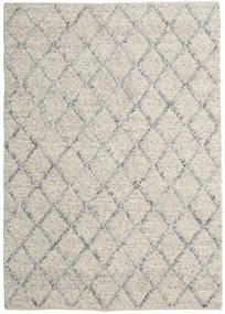 Rut - Hopea/Harmaa Melange Matto 160X230 Moderni Käsinkudottu Vaaleanharmaa/Tummanbeige (Villa, Intia)