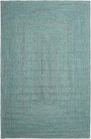 Ulkomatto Frida Color - Turquoise Matto 200X300 Moderni Käsinkudottu Siniturkoosi/Siniturkoosi/Pastellinvihreä (Juuttimatto Intia)
