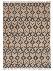 Trinni Jute Matto 160X230 Moderni Käsinkudottu Vaaleanharmaa/Beige ( Intia)