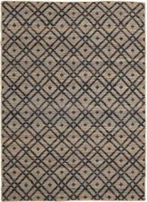 Trisha Jute Matto 160X230 Moderni Käsinkudottu Vaaleanharmaa/Tummanharmaa ( Intia)
