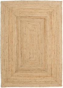 Ulkomatto Frida - Natural Matto 140X200 Moderni Käsinkudottu Tummanbeige/Beige (Juuttimatto Intia)