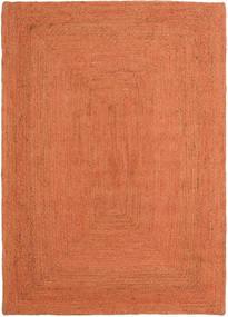 Ulkomatto Frida Color - Oranssi Matto 140X200 Moderni Käsinkudottu Oranssi/Punainen (Juuttimatto Intia)