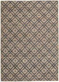 Jute Matto 160X230 Moderni Käsinkudottu Vaaleanharmaa/Tummanharmaa ( Intia)