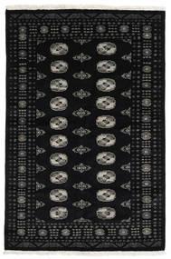 Pakistan Bokhara 3Ply Matto 138X208 Itämainen Käsinsolmittu Musta (Villa, Pakistan)