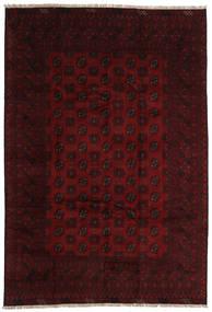 Afghan Matto 196X289 Itämainen Käsinsolmittu Tummanruskea/Tummanpunainen (Villa, Afganistan)