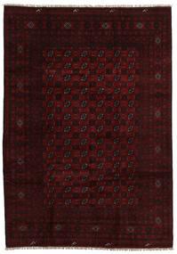 Afghan Matto 202X287 Itämainen Käsinsolmittu Tummanruskea/Tummanpunainen (Villa, Afganistan)