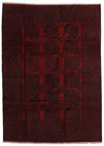 Afghan Matto 201X280 Itämainen Käsinsolmittu Tummanruskea/Tummanpunainen (Villa, Afganistan)