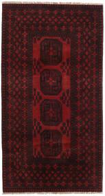 Afghan Matto 101X189 Itämainen Käsinsolmittu Tummanruskea/Tummanpunainen (Villa, Afganistan)