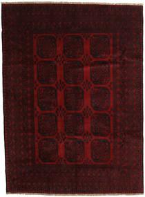 Afghan Matto 203X279 Itämainen Käsinsolmittu Tummanruskea/Tummanpunainen (Villa, Afganistan)