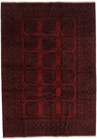 Afghan Matto 203X286 Itämainen Käsinsolmittu Tummanpunainen (Villa, Afganistan)