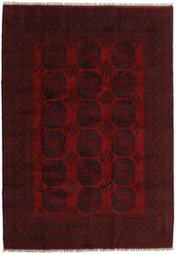 Afghan Matto 203X287 Itämainen Käsinsolmittu Tummanruskea/Tummanpunainen (Villa, Afganistan)