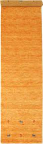 Gabbeh Loom Two Lines - Oranssi Matto 80X350 Moderni Käytävämatto Keltainen/Vaaleanruskea (Villa, Intia)