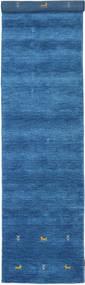Gabbeh Loom Two Lines - Sininen Matto 80X350 Moderni Käytävämatto Sininen/Tummansininen (Villa, Intia)