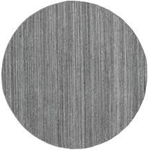 Ulkomatto Petra - Dark_Mix Matto Ø 200 Moderni Käsinkudottu Pyöreä Vaaleanharmaa/Tummanharmaa/Sininen ( Intia)