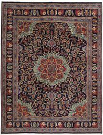 Mashad Matto 294X382 Itämainen Käsinsolmittu Tummanvioletti/Tummanpunainen Isot (Villa, Persia/Iran)