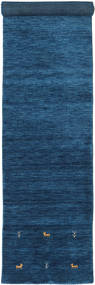 Gabbeh Loom Two Lines - Tummansininen Matto 80X450 Moderni Käytävämatto Tummansininen/Sininen (Villa, Intia)