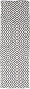Torun - Harmaa/Neutral Matto 80X250 Moderni Käsinkudottu Käytävämatto Vaaleanharmaa/Vaaleanvioletti (Puuvilla, Intia)