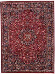 Mashad Matto 294X396 Itämainen Käsinsolmittu Tummanpunainen/Tummanharmaa Isot (Villa, Persia/Iran)