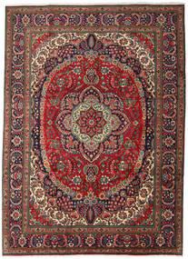 Tabriz Matto 247X344 Itämainen Käsinsolmittu Tummanruskea/Tummanpunainen (Villa, Persia/Iran)