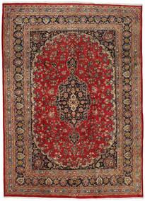 Mashad Matto 237X333 Itämainen Käsinsolmittu Tummanpunainen/Tummanruskea (Villa, Persia/Iran)