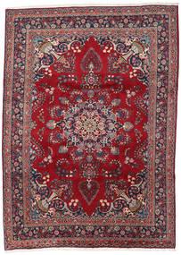 Mashad Matto 248X344 Itämainen Käsinsolmittu Tummanpunainen/Tummanvioletti (Villa, Persia/Iran)