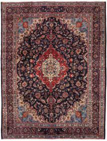 Mashad Matto 294X384 Itämainen Käsinsolmittu Tummanvioletti/Tummanpunainen Isot (Villa, Persia/Iran)