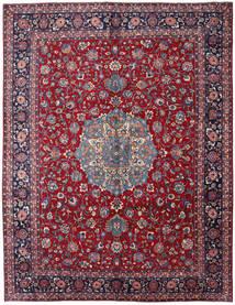 Mashad Matto 297X381 Itämainen Käsinsolmittu Tummanpunainen/Tummanvioletti Isot (Villa, Persia/Iran)